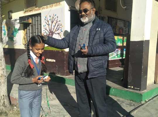 Director Rev R Stephen Diyali with student
